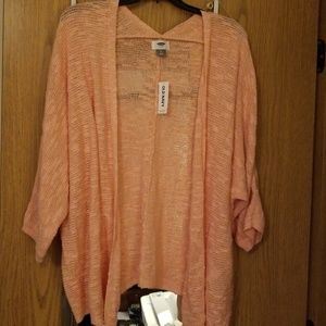 NWT Old Navy peach colored knit cardigan